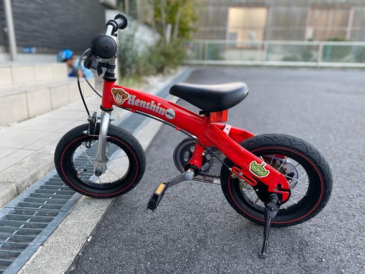 3歳の自転車デビューにへんしんバイク