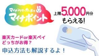 マイナポイント申込方法*楽天カード・楽天ペイどっちがお得?