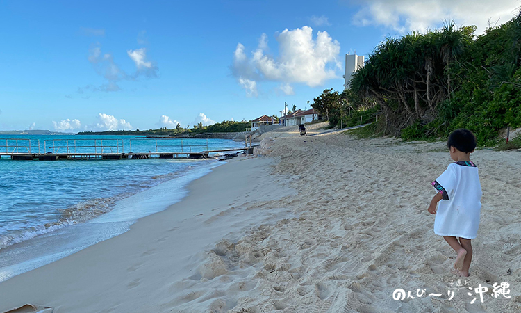 前浜ビーチでお散歩